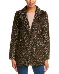 T Tahari - Kendall Wool-blend Coat - Lyst