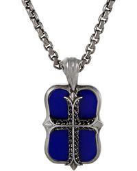Stephen Webster - Men's Silver & Rhodium 0.15 Ct. Tw. Gemstone Necklace - Lyst
