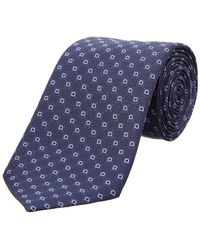 Ferragamo - Navy Gancio Silk Tie - Lyst