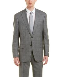 Hart Schaffner Marx - New York Modern Fit Wool Suit With Flat Front Pant - Lyst
