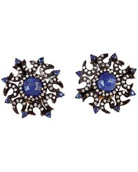 Socheec - Colour Stone Jewellery 18k & Silver 2.95 Ct. Tw. Diamond & Gemstone Studs - Lyst