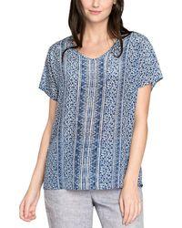 NIC+ZOE - Silk-blend T-shirt - Lyst