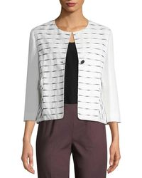 Piazza Sempione - Striped Jacket - Lyst
