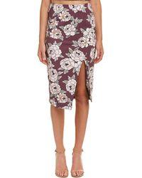 Talulah - Lust Floral Midi Skirt - Lyst
