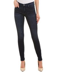 7 For All Mankind - Gwenevere Blue Crop - Lyst