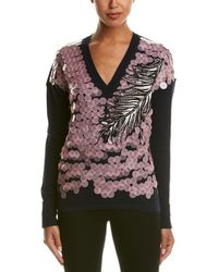 Emilio Pucci - Pailette Sequin Embroidered Wool, Cashmere, & Silk Blend Sweater - Lyst