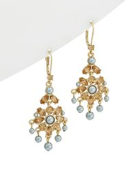 Carolee - West Side 12k Plated Drop Earrings - Lyst