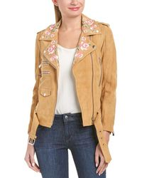 Anine Bing - Embroidered Suede Jacket - Lyst