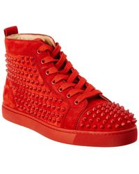 Christian Louboutin | Louis Spike Suede High Top Sneaker | Lyst