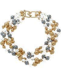 Kenneth Jay Lane - Plated Resin Bead Layered Necklace - Lyst