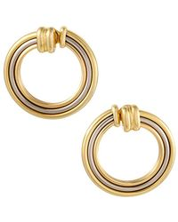 Cartier - Cartier 18k Tri-color Quartz Drop Earrings - Lyst