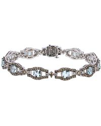 Le Vian - ? 14k 7.65 Ct. Tw. Diamond & Aquamarine Bracelet - Lyst