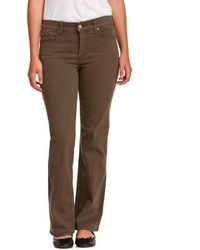 "NYDJ Not Your Daughter's Jeans Petite ""sarah"" Earth Green Bootcut - Brown"