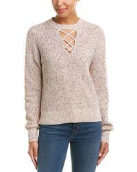 Splendid - Cross Front Sweater - Lyst
