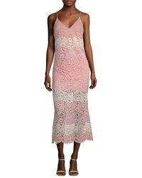 ABS By Allen Schwartz - Lace Midi Dress - Lyst