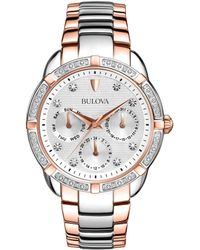 Bulova - Stainless Steel Bracelet Watch - Lyst