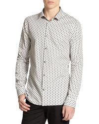 Burberry - Pulbury Geometric Print Sportshirt - Lyst
