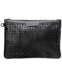 Jimmy Choo - Derek Star-embellished Leather Document Holder - Lyst