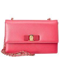Ferragamo - Ginny Medium Vara Leather Shoulder Bag - Lyst