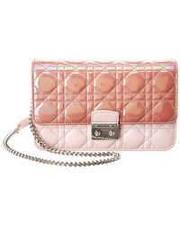 Dior - Limited Edition Pink Lambskin Leather Miss Prom Pouch - Lyst