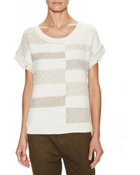 Ella Moss - Colorblocked Knit Top - Lyst