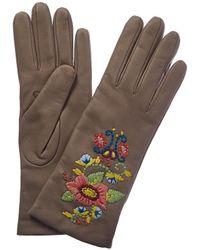Portolano - Cashmere-lined Leather Glove - Lyst