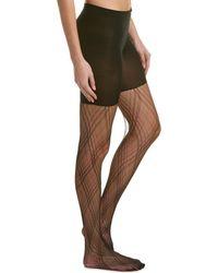 Spanx ? Plaid Lace Tights - Black