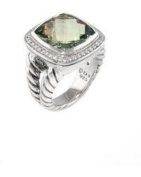 David Yurman - David Yurman Albion Silver 22.37 Ct. Tw. Diamond & Prasiolite Ring - Lyst