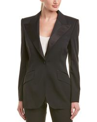 Dolce & Gabbana Wool & Silk-blend Blazer - Black