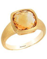 Effy - Fine Jewelry 14k 3.80 Ct. Tw. Citrine Ring - Lyst