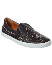 aa7aff6de13e Jimmy Choo - Demi Graphic Star Stud Embellished Leather Slip-on Sneaker -  Lyst