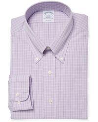 Brooks Brothers - Dobby Check Dress Shirt - Lyst
