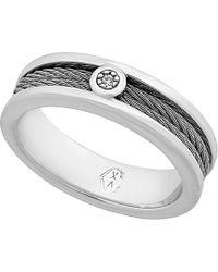 Charriol - Engagement Stainless Steel Diamond Ring - Lyst