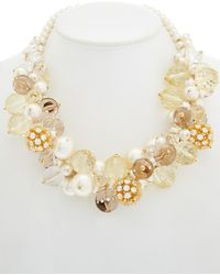 Carolee - Barcelona Baubles 12k Epoxy Statement Necklace - Lyst