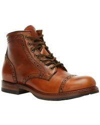 Frye - Men's Logan Brogue Leather Boot - Lyst
