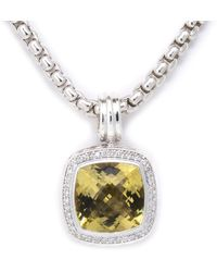 David Yurman - David Yurman Albion Silver 10.32 Ct. Tw. Diamond & Lemon Citrine Necklace - Lyst