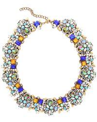 Sparkling Sage - 14k Plated Crystal & Resin Statement Necklace - Lyst