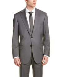 Hart Schaffner Marx - Wool-blend Suit With Flat Front Pant - Lyst