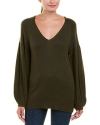 Ella Moss - Bishop Sleeve Wool-blend Pullover - Lyst