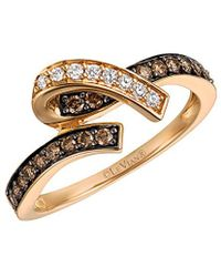 Le Vian - ® Chocolatier® 14k Rose Gold 0.39 Ct. Tw. Diamond Ring - Lyst