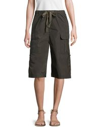 RED Valentino - High Rise Cropped Cargo Pant - Lyst