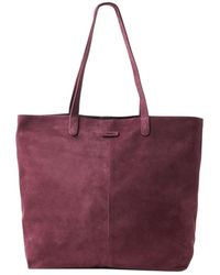 TOMS - Beet Suede Tote - Lyst