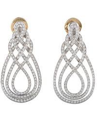 Damiani - 18k 2.17 Ct. Tw. Diamond Earrings - Lyst