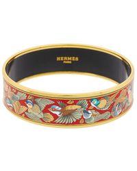 Hermès - Printed Enamel Wide Bangle - Lyst