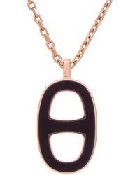 Hermès - Black Enamel Chaine Dancre Necklace - Lyst