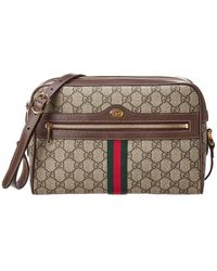 94b5c57b1c4 Gucci - Ophidia GG Supreme Canvas   Leather Small Shoulder Bag - Lyst