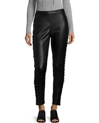 Bagatelle - Lace-up Leather Legging - Lyst