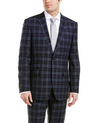 English Laundry - Slim Wool Suit With Flat Front Pant - Lyst