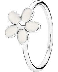 PANDORA - Darling Daisy Silver Enamel Ring - Lyst