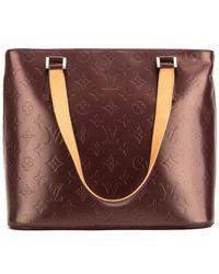 Louis Vuitton - Burgundy Monogram Mat Vernis Leather Stockton - Lyst